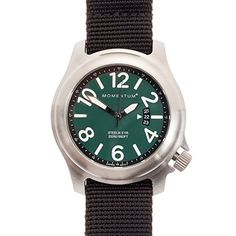 Men's Wrist Watches - Momentum Mens Nylon Band Steelix Web Field Strap Watch Dark Green DialBlack >>> Want to know more, click on the image.