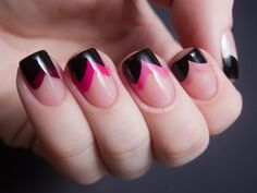Pink Fishtail Ombre nails nail art manicure french manicures nail ideas nail designs ombre nails ombre nail pictures