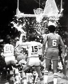 Dawkins shattered his first backboard on Nov. 13, 1979, in a game against the Kansas City Kings, as players including Bill Robinzine, Scott Wedman and Julius Erving watched or were showered with glass.