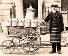 victorian street milk dairy delivery - Google Search