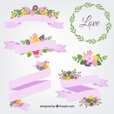 Spring ribbons - Freepik.com-Ribbons-pin-29