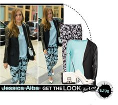 """""""Jessica Alba: look for less"""" by matildeln ❤ liked on Polyvore"""