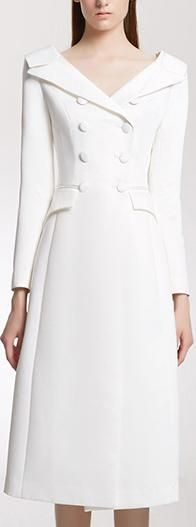 ideas for closet luxo feminino Dress Outfits, Fashion Dresses, Dress Shoes, Shoes Heels, White Suits, Moda Vintage, Coat Dress, White Fashion, Classy Outfits