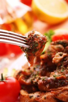A classic country French dish and a popular bistro specialty in Lyons, France, Poulet au Vinaigre or Chicken in Vinegar is a tangy, aromatic and piquant chicken recipe best enjoyed with a racy white whine with herbal notes like Sauvignon Blanc, Sancerre, or Pouilly- Fumé.
