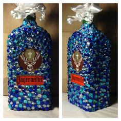 Bedazzled Jager bottle