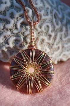 Vortex Energy Pendant Lepidolite Copper and by TheMothersBlessing, $45.00