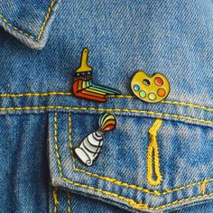 Painting tools Enamel pin Paint pigment Palette Brush Pin Brooch Shirt coat lapel pin Buckle Badge Gift for Friend kid Types Of Aesthetics, Unicorn Store, Art Hoe Aesthetic, Paint Tubes, Enamel Paint, Painting Tools, Cute Pins, Pin And Patches, Art Club