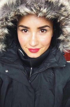 Beautiful snow bunny Demi Lovato