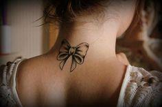 back of the neck tattoo - bow @Via Viteri Viteri Sherman
