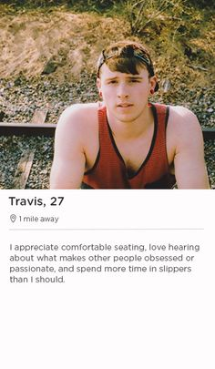 example male online dating profile