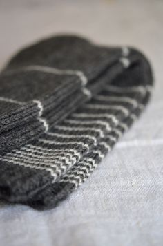 Materials: These handknit striped horizon socks are made with soft, machine washable merino. The perfect thing to keep your toes warm. Wool Socks, Knitting Socks, Hand Knitting, Knitted Hats, Knitting Patterns, Crochet Cross, Knit Crochet, Crochet Hats, Lots Of Socks