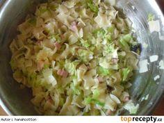 Těstoviny se zelím podle mojí babičky Potato Salad, Cabbage, Easy Meals, Food And Drink, Potatoes, Cooking Recipes, Pasta, Vegetables, Ethnic Recipes