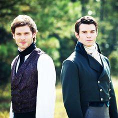 Joseph Morgan and Daniel Gillies as Klaus and Elijah - The Originals damn they're pretty