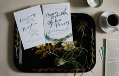 Laurel Wreath Watercolor Wedding Invitation by Honeyhuepaperco