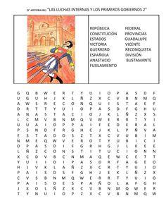 sopa de letras de historia de 5 grado bloque v sopa de Spanish Teacher, Teacher Resources, Learning, Creativity, Cinder Blocks, Primary Education, Alphabet Soup