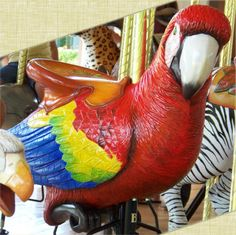 National Carousel Association - The Conservation Carousel - Carousel Works Scarlet Macaw Jumper❤❤❤