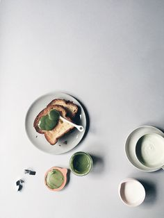 YES, homemade MATCHA MILK JAM and it's amazing. I'm having that with a matcha latte made with frothed heavy cream. OH YEAH. // Instagram: @Oh, How Civilized