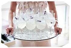 Wedding Inspiration Created by Cocktail {Lavender Mint Sparkler} | Two Delighted