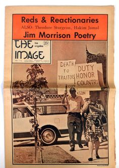 "Jim Morrison - Rare 1969 ""L.A. Image"" Newspaper With Unpublished Poem (The Doors) - Recordmecca"