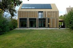 """French studio Karawitz Architecture has designed the Passive House project, the first house near Paris to receive the european labeled certification """"Passiv Haus Institut"""". Completed in 2009, this 1,905 square foot two story contemporary home is located in the city of Bessancourt, North of Paris, France.                            Passive House by/ Karawitz Architecture: """"A house without heating system. The windows and prefabricated walls are so well insulated that the home's primary…"""