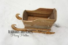 Hiney Holder Rustic Sleigh, re-purposed sleigh, photo prop, newborn photo prop, baby, Christmas, Holiday, Wood, upcycled, Santa sleigh