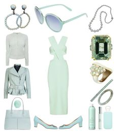 """Egg Mint"" by creation-gallery ❤ liked on Polyvore featuring Alexander McQueen, Eos, Kate Spade, Cushnie Et Ochs, Manolo Blahnik, bkr, Miriam Haskell, Plukka, Alexis Bittar and Vintage"