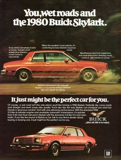 1980 Buick Skylark Sport Coupe. How the mighty have fallen. This is one really ugly car.