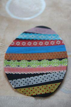 Oeufs de Pâques en masting tape - Payette Family
