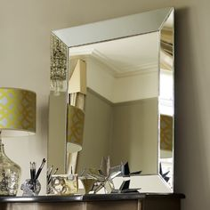 A Classic Mirror With Simple Bevelled Edges Which Can Be Hung Vertically Or Horizontally The Edge Is Perfect Way To Add