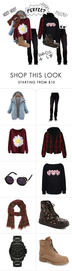 """Bokuto x Kuroo"" by kyle-senpai ❤ liked on Polyvore featuring Hudson Jeans, R13, Drakes London, Michael Kors, Timberland, Luminox, men's fashion and menswear"