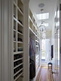 Narrow hallway/amazing closets
