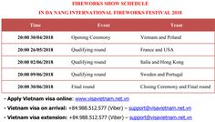 Fireworks Show Schedule In Da Nang International Fireworks Festival 2018