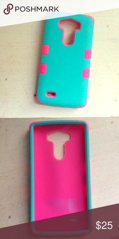 huge selection of f71be 727fb Flexible Hardshell Case for LG G4 Navy/Mint Dot | Phone Cases | Lg4 ...