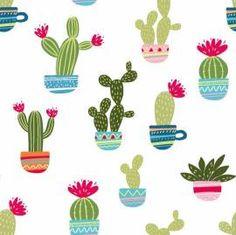 Stenzo Jersey Kaktus, 14,90 EUR/Meter - Bild vergrößern Cactus, Home, Backgrounds, Fabrics, Prickly Pear Cactus