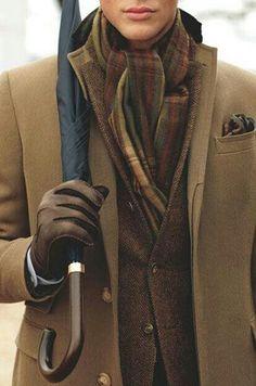 Men's style brown tweed. Very British.