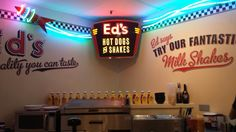 The best place to eat a hot dog and an oreo milkshake #foodlover