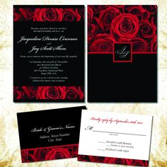 Quince Invitations, Red Wedding Invitations, Quinceanera Invitations, Wedding Stationery, Anniversary Invitations, Romantic Wedding Colors, Romantic Weddings, Lace Weddings, Red Rose Wedding