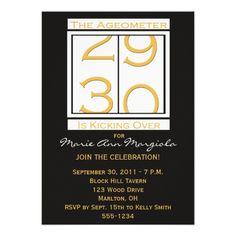 Fun 30th Birthday Party Invitation
