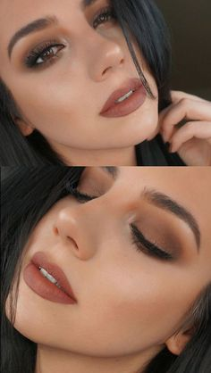 Makeup Looks For Brown Eyes, Simple Makeup Looks, Smokey Eye For Brown Eyes, Brown Skin, Smoky Eye, Brown Makeup, Fall Makeup Looks, Spring Makeup, Olive Skin Makeup