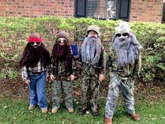 Duck Dynasty costumes lol and so cute