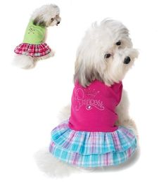 Petrageous Princess Rhinestone Dog Dress S
