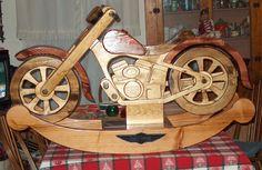 Grandpa's handmade Motorcycle Rocker!