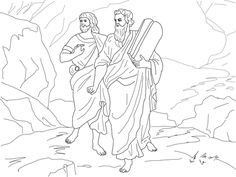 moses and joshua bearing the law coloring page from joshua category select from 26073 printable crafts of cartoons nature animals bible and many more