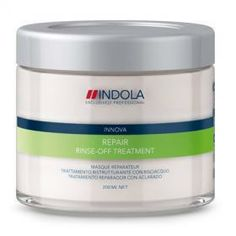 Indola Innova Repair Rinse Off Treatment helps in rebuilding damaged and brittle hair. Treatment contains cationic polymers, pro-vitamin B5, hydrolised keratin and other nourishing ingredients. Product works to repair the cuticle, fiber and matrix of hair strands and prevent further damages from occurring.