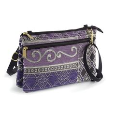Geometric Patchwork Tapestry Bag - Women's Clothing – Casual, Comfortable & Colorful Styles – Plus Sizes