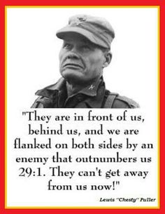 CHESTY PULLER USMC  I met Chesty Puller in 1962 in the Commissary at the Yorktown, VA Naval Weapons Station