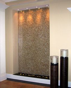 Wall fountain. Forget white noise. One of these in the bedroom for ...