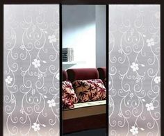 Decorative Privacy Glass Window Film Frosted Black Flowers Office PVC for sale online Frosted Glass Design, Frosted Glass Window, Black Flowers, Floral Flowers, Privacy Glass, Window Film, Glass Film, Home Office, Windows
