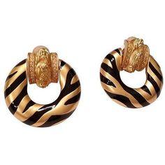 Elizabeth Taylor Zebra Earrings (9.625 RUB) ❤ liked on Polyvore featuring jewelry, earrings, clip-on earrings, elizabeth taylor jewellery, clip back earrings, clip earrings and zebra jewelry