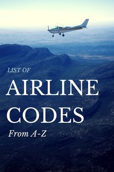 Complete list of popular domestic (US) airline codes and a comprehensive list of international airline codes from A-Z.
